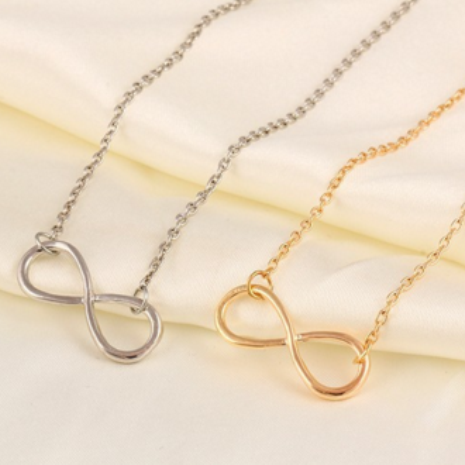 Fashion Luxury Charm Gold/Silver Plated Infinity Pendant Chain Necklace For Women
