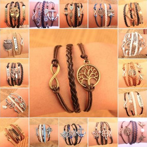 Vintage LOVE Infinity Multilayer Leather Women's Bracelets