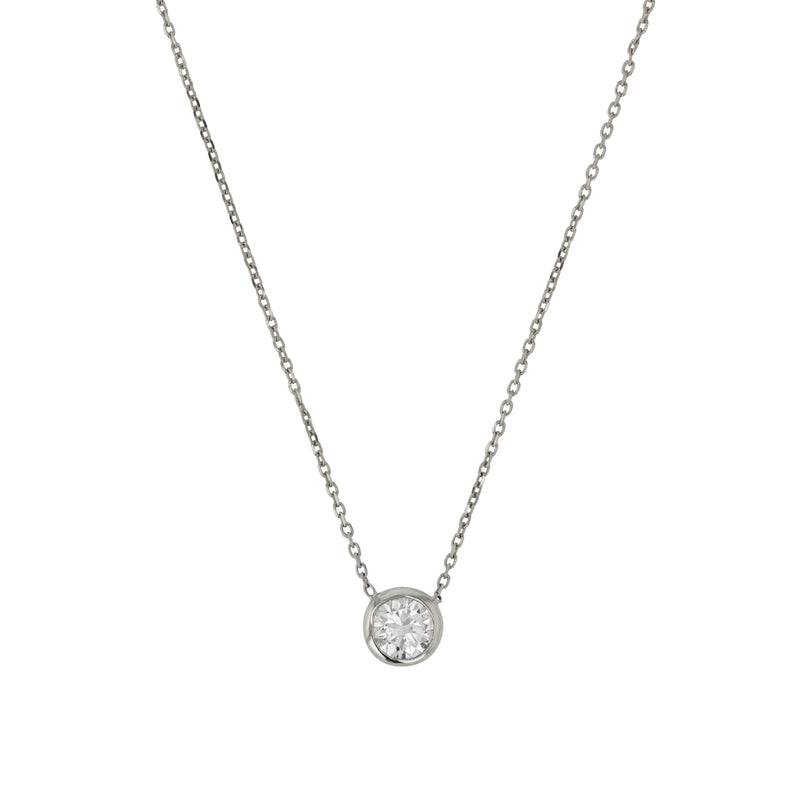 Quarter Lunette Diamond Necklace White Gold | Sarah & Sebastian