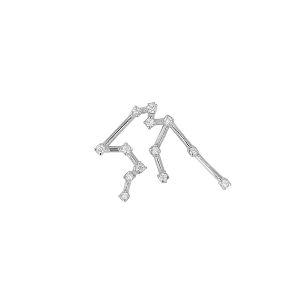 Single Celestial Aquarius Earring White Gold | Sarah & Sebastian