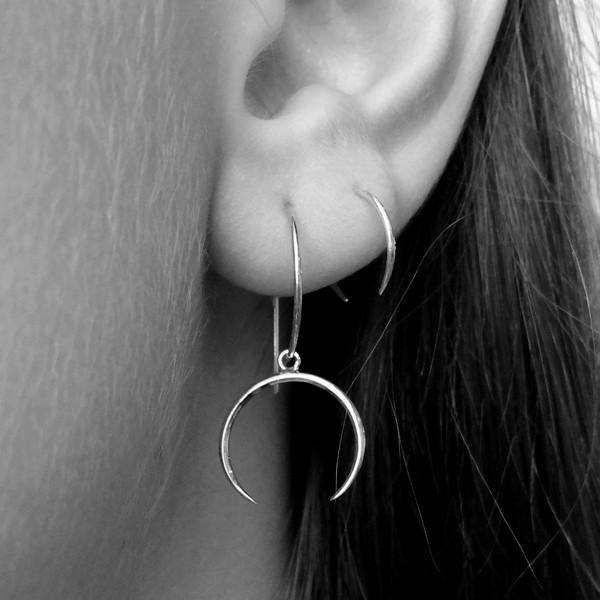 Style: Styled in this image with: | aura_hoop_sterling_silver