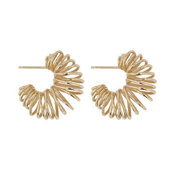 Bait Hoops Yellow Gold | Sarah & Sebastian