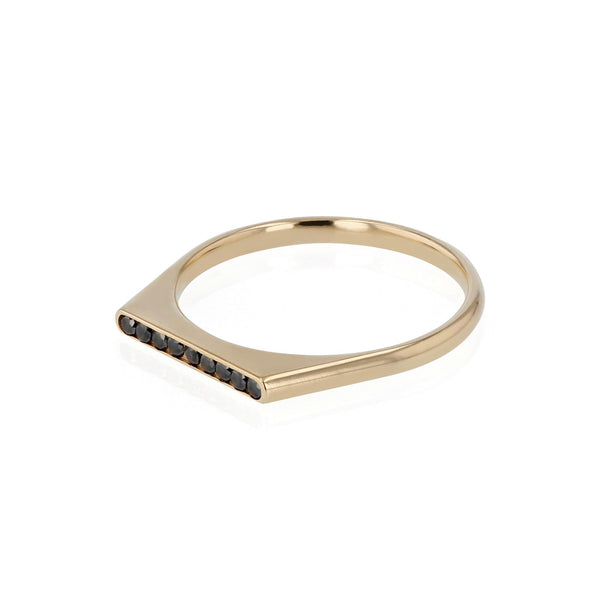 Mens Black Diamond Unity Ring Gold | Sarah & Sebastian