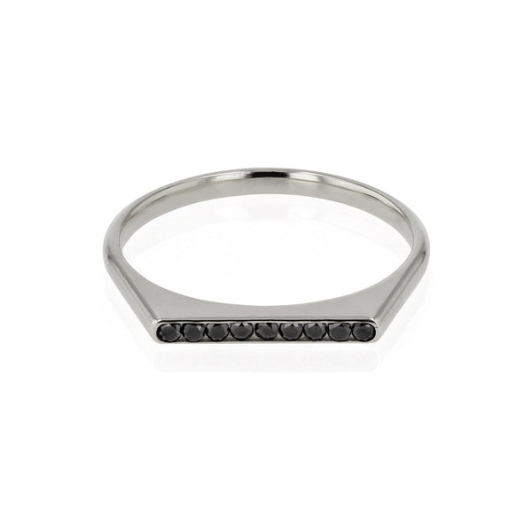 Black Diamond Unity Ring White Gold | SARAH & SEBASTIAN