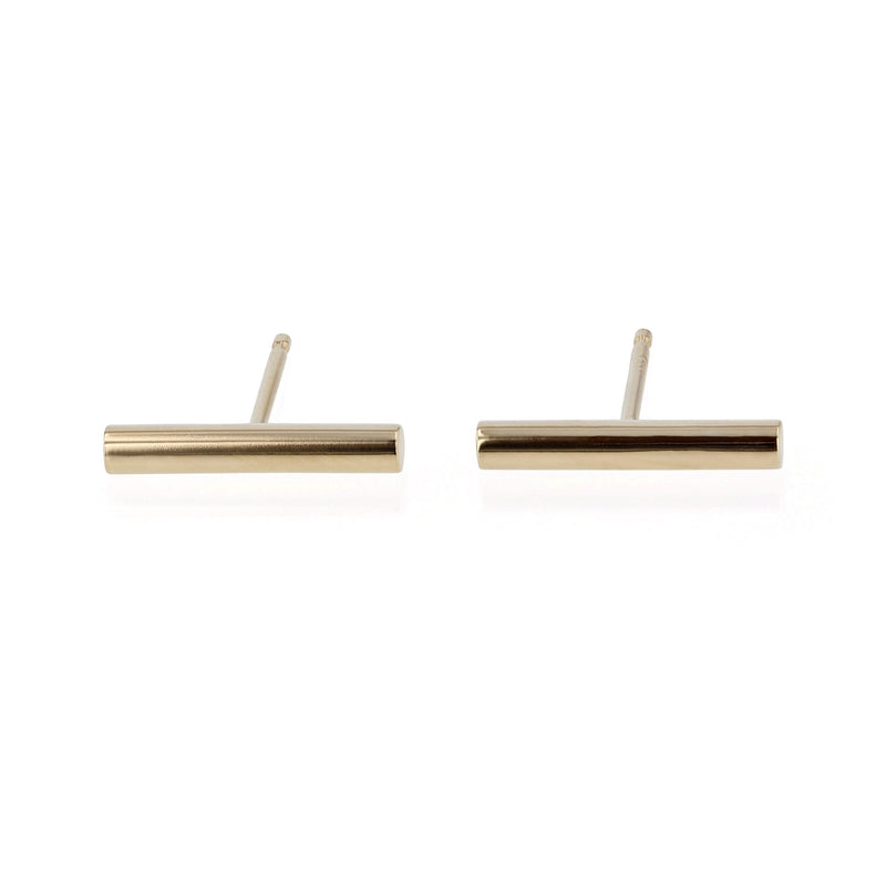 Bold Line Earrings Yellow Gold | Sarah & Sebastian