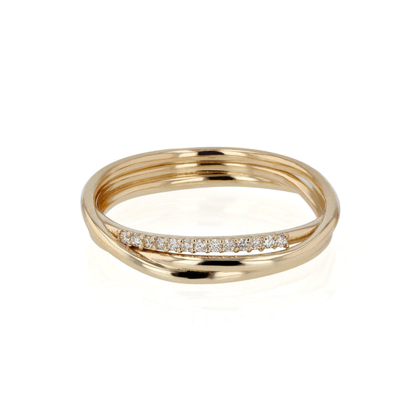 Bound Diamond Ring Yellow Gold | Sarah & Sebastian