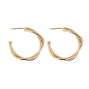 Bound Hoops Yellow Gold | Sarah & Sebastian