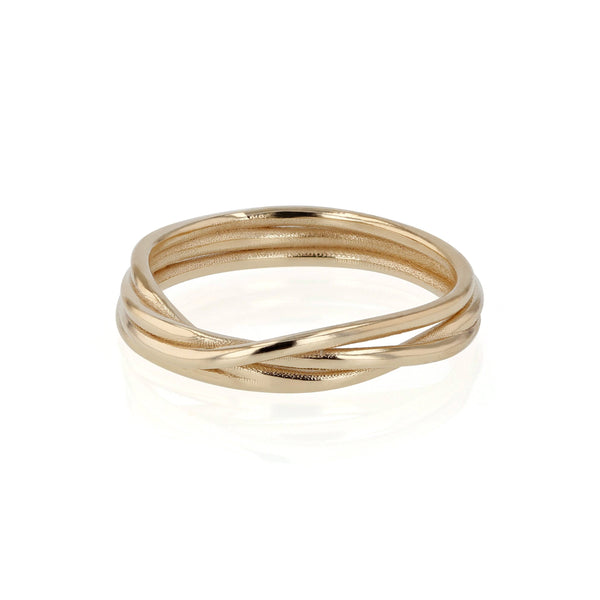 Bound Ring Yellow Gold | Sarah & Sebastian