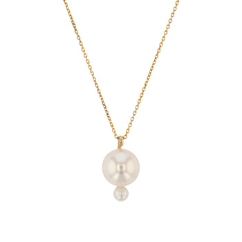 Buoy Pearl Necklace Yellow Gold | Sarah & Sebastian