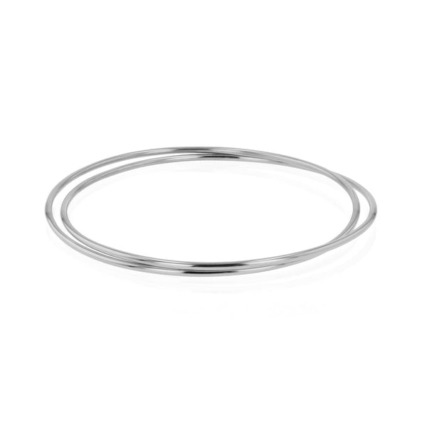 Interlinked Bangled Bangle Silver | Sarah & Sebastian