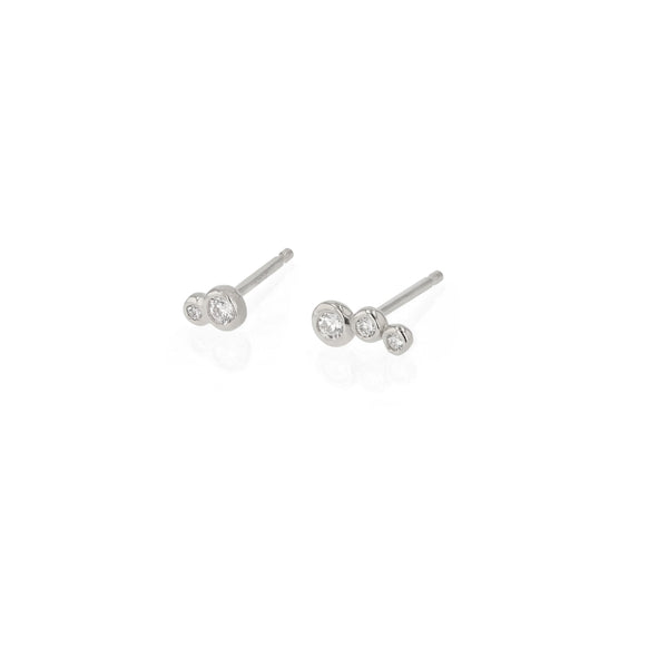 Fine Bloom Diamond Earrings White Gold | Sarah & Sebastian