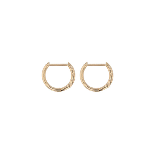 Bloom Diamond Hoops