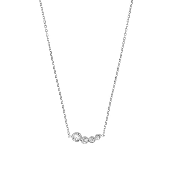 Fine Bloom Diamond Necklace White Gold | Sarah & Sebastian
