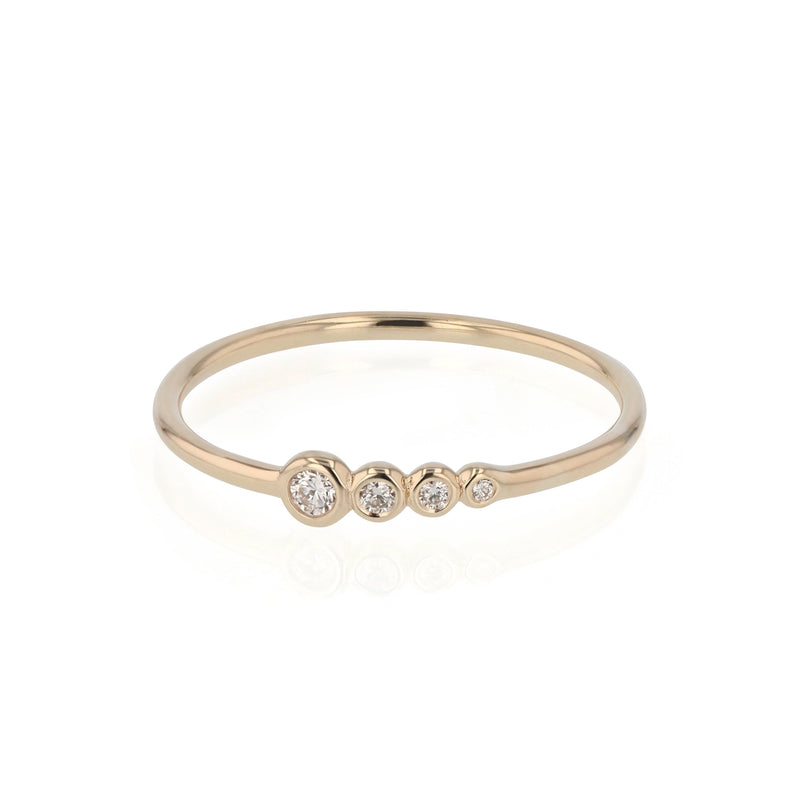 Bloom Diamond Ring Gold | Sarah & Sebastian