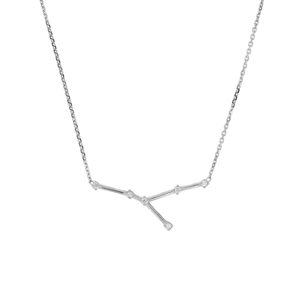 Celestial Cancer Necklace White Gold | Sarah & Sebastian