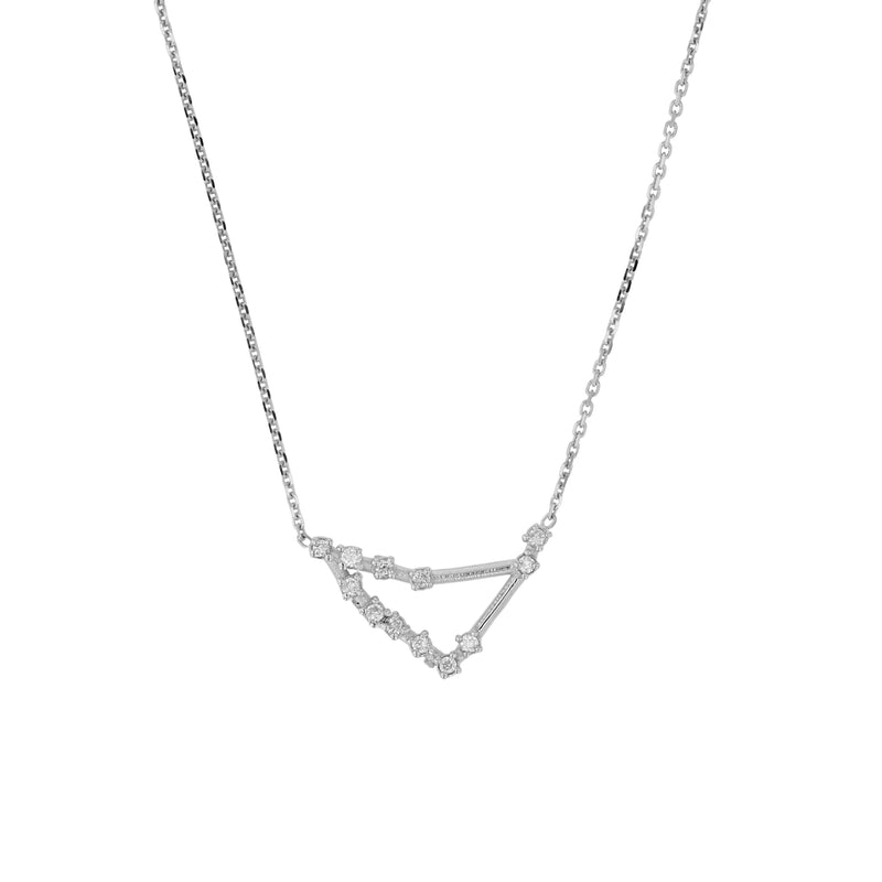 Celestial Capricorn Necklace White Gold | Sarah & Sebastian