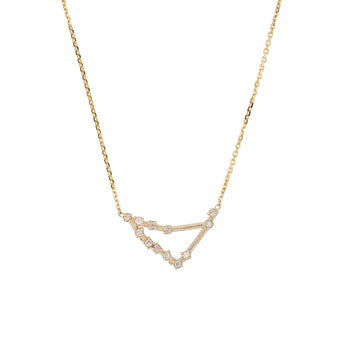 Celestial Capricorn Necklace Yellow Gold | Sarah & Sebastian