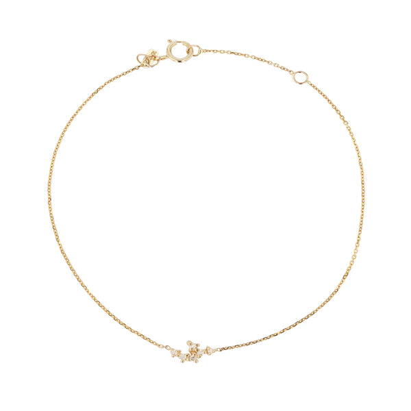 Cluster Diamond Bracelet Yellow Gold | Sarah & Sebastian