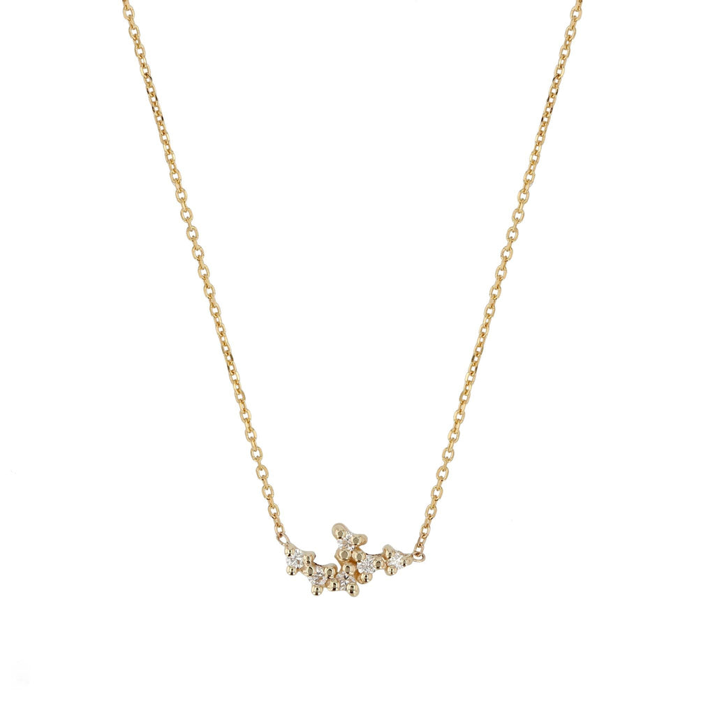 Cluster Diamond Necklace