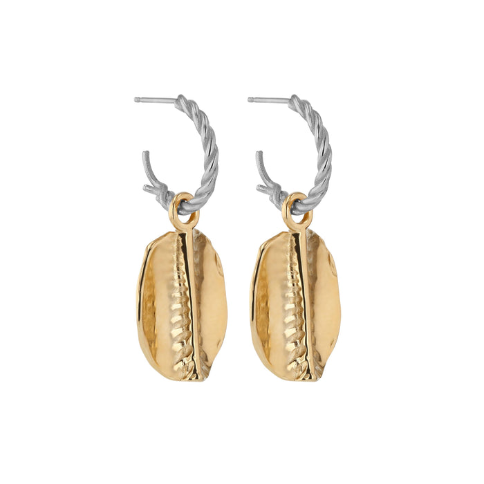 Cowrie Rope Hoops Mixed Metal | Sarah & Sebastian