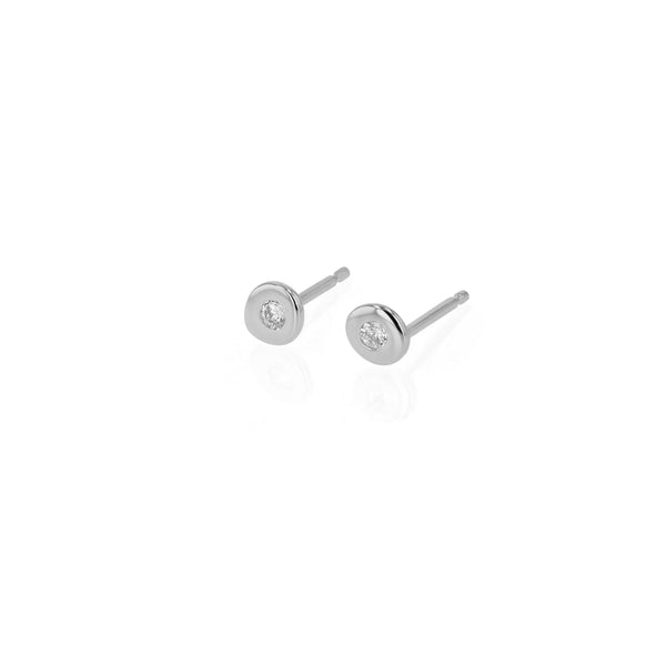 Fine Cell Diamond Stud Earrings White Gold | Sarah & Sebastian