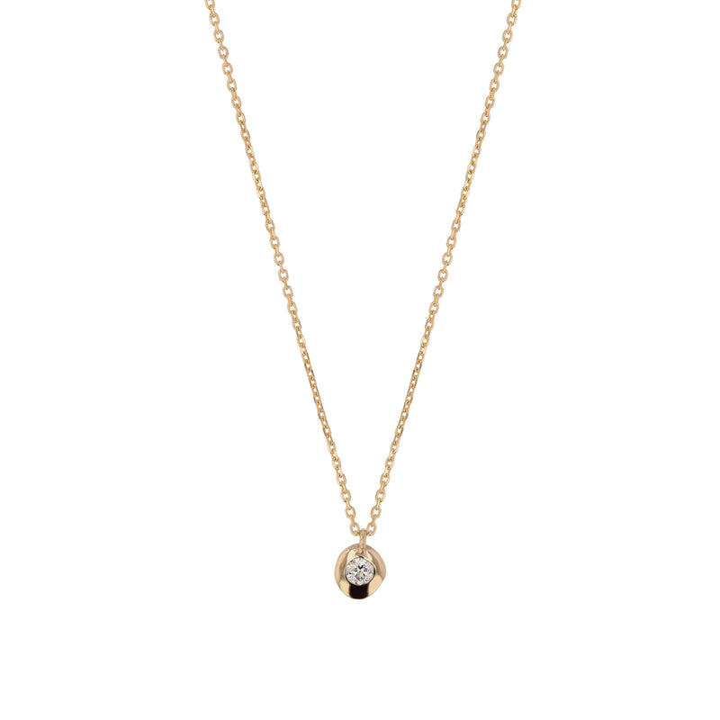 Fine Cell Diamond Necklace Gold | Sarah & Sebastian