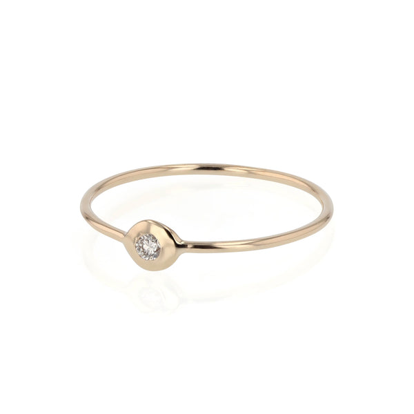 Fine Cell Diamond Ring Gold | Sarah & Sebastian