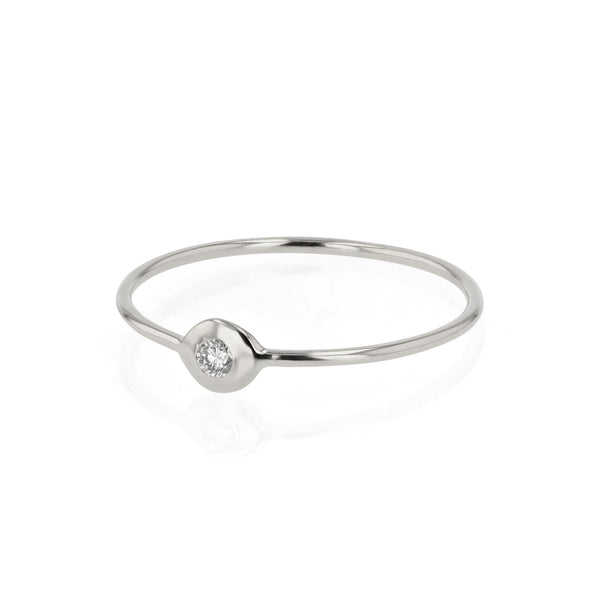 Fine Cell Diamond Ring White Gold | Sarah & Sebastian
