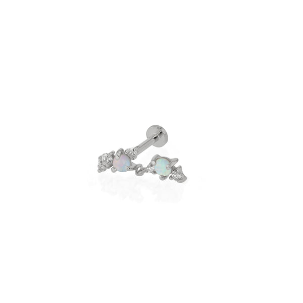 Chroma Opal Cartilage Earring White Gold | Sarah & Sebastian