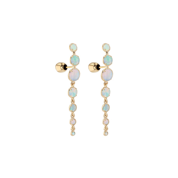 Chroma Opal Chain Earrings Gold | Sarah & Sebastian