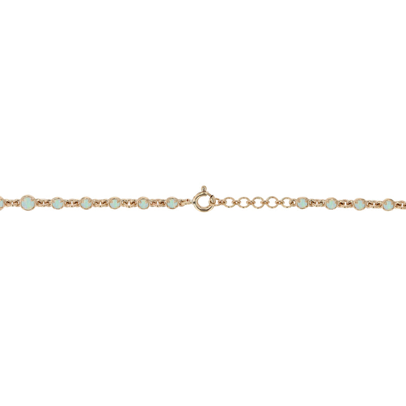 Statement Chroma Opal Chain Gold | Sarah & Sebastian