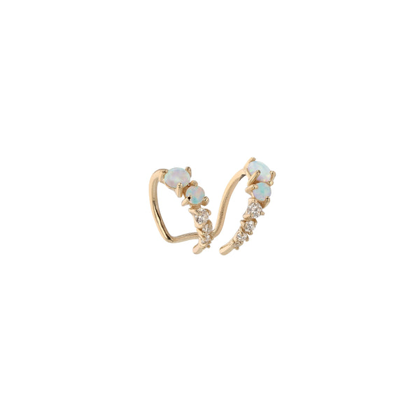 Single Chroma Opal Ear Cuff Gold | Sarah & Sebastian
