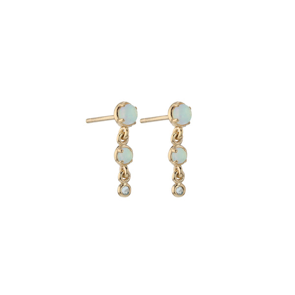 Chroma Opal Trio Earrings Gold | Sarah & Sebastian