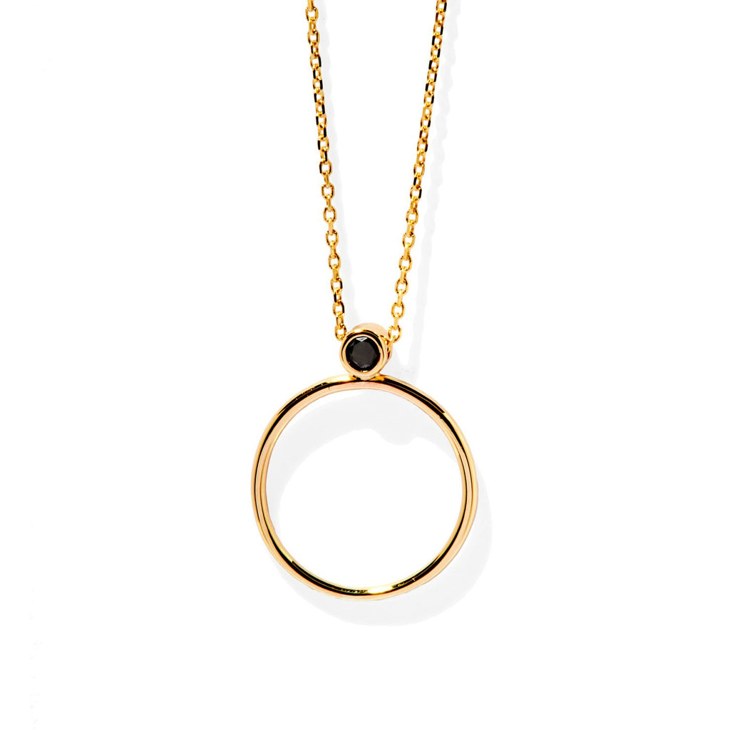 Circular Necklace (Gold and Black Diamond)