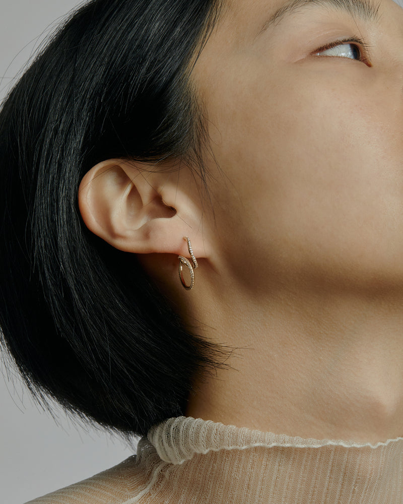 Buoy Diamond Hoops Gold | Sarah & Sebastian onBody