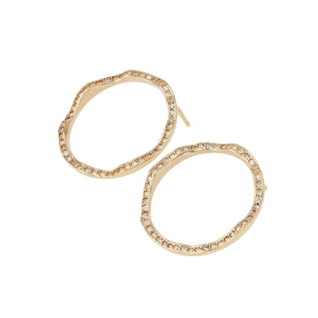 Diamond Chasm Earrings Yellow Gold | Sarah & Sebastian