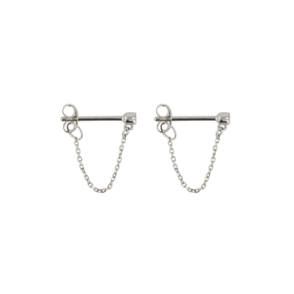 Diamond Molly Earrings Silver | Sarah & Sebastian