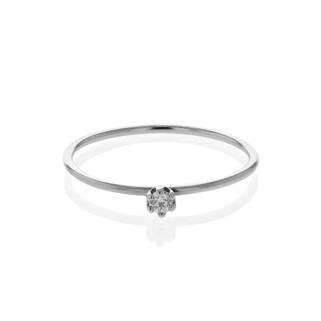 Diamond Pin Ring