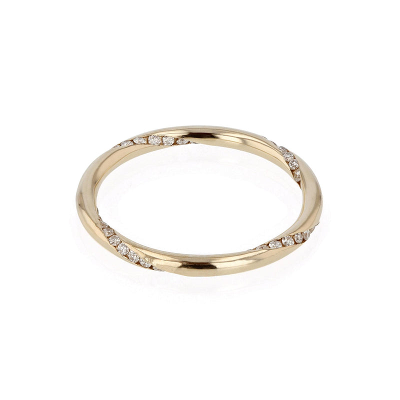 Diamond Wrap Ring Yellow Gold | SARAH & SEBASTIAN