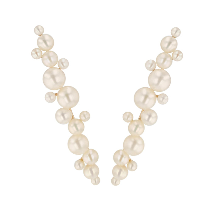 Dream Buoy Pearl Earrings Yellow Gold | Sarah & Sebastian