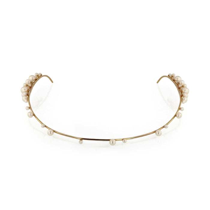 Dream Buoy Headpiece Yellow Gold | Sarah & Sebastian