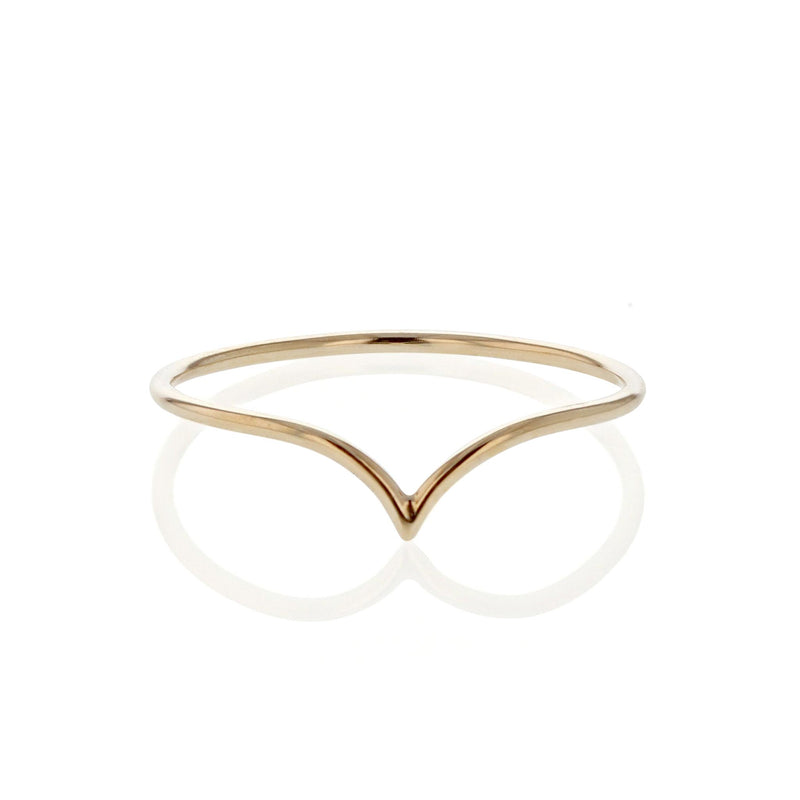 Fine Drop Ring Yellow Gold | Sarah & Sebastian