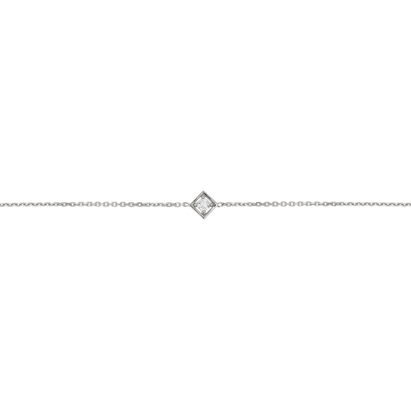 Deco Square Diamond Bracelet White Gold | Sarah & Sebastian