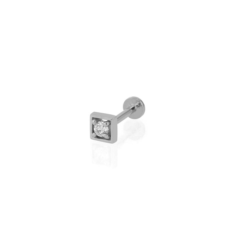 Deco Square Diamond Cartilage Earring