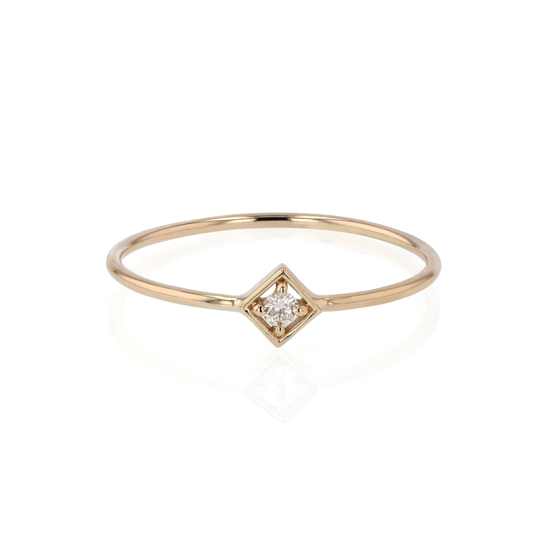Deco Square Diamond Ring Gold | Sarah & Sebastian