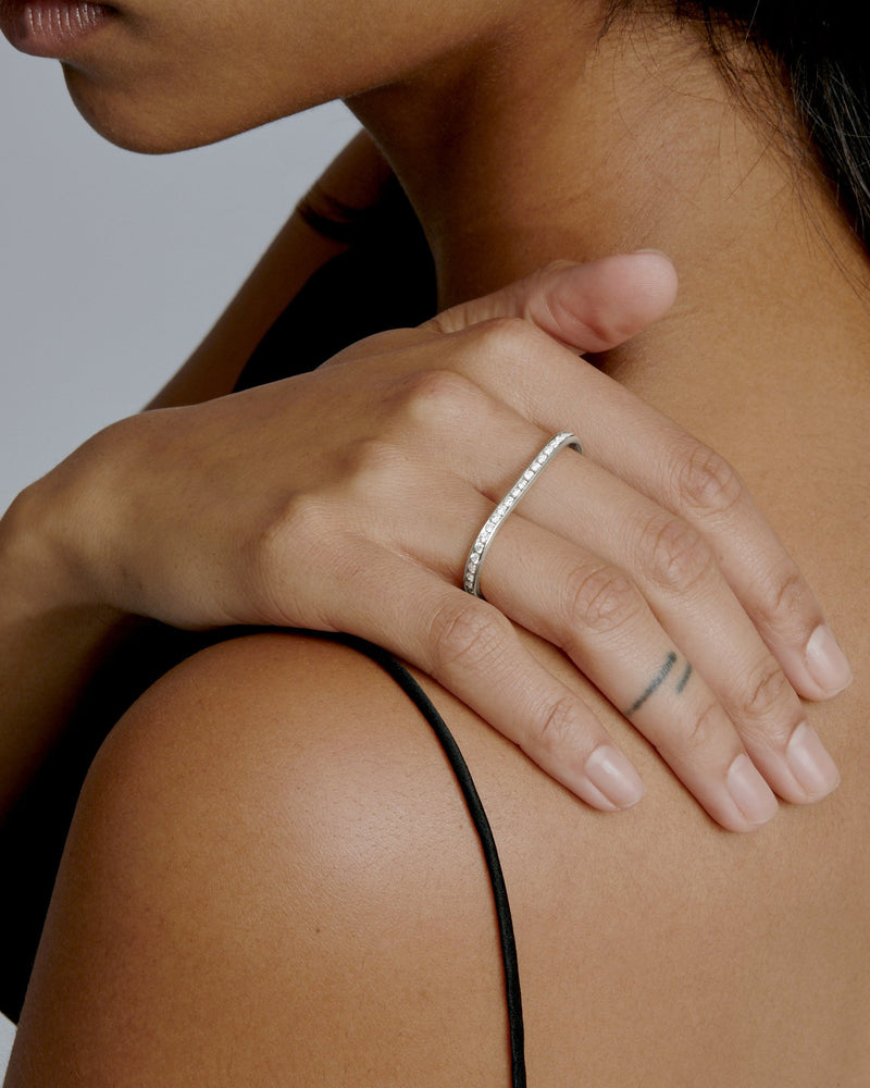 Diamond Channel Two Finger Ring | Sarah & Sebastian onBody