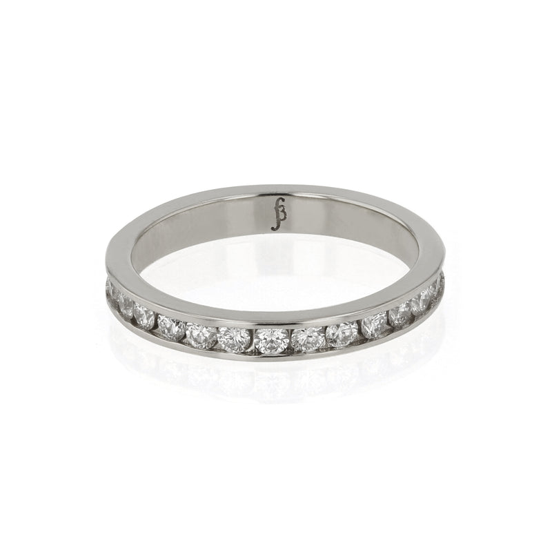 Diamond Channel Ring White Gold | Sarah & Sebastian