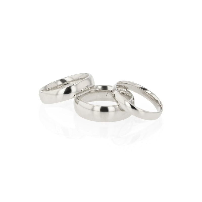 Dome III Mens Wedding Band White Gold | Sarah & Sebastian