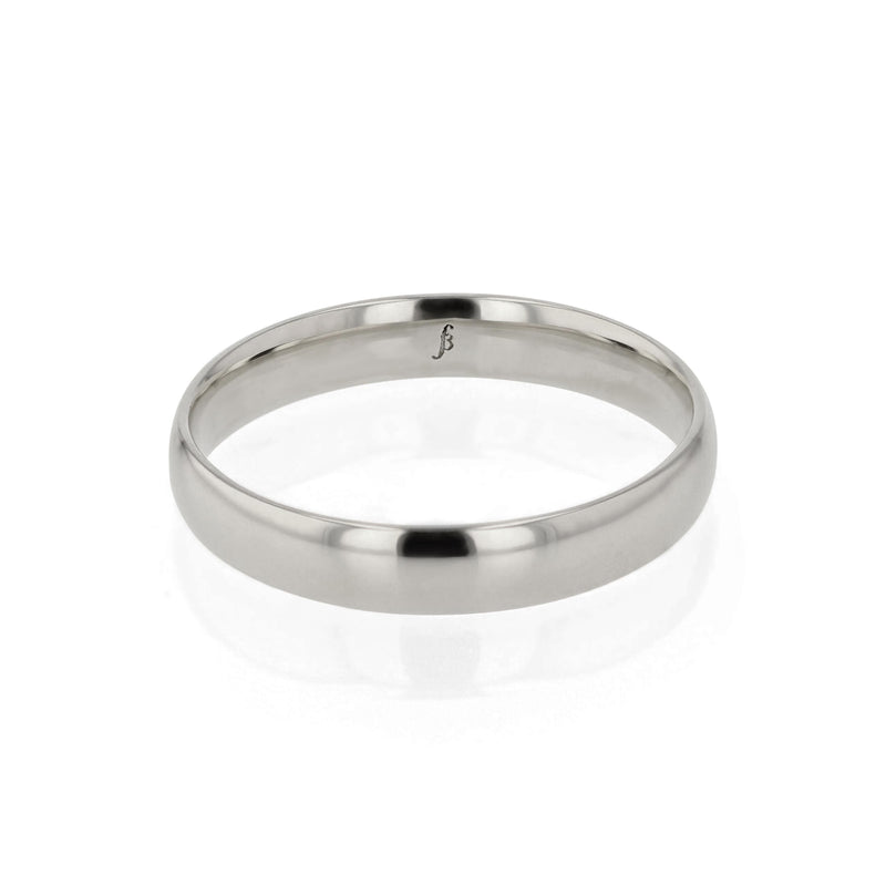 Dome I Wedding Band White Gold | Sarah & Sebastian