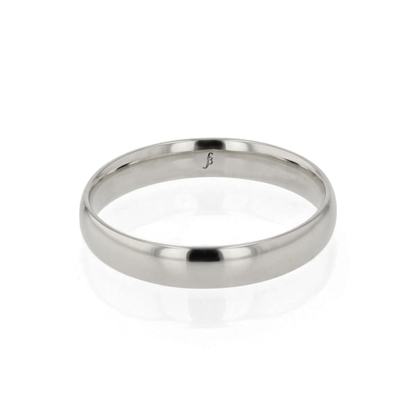 Mens Wedding Band | Dome I Polished